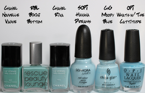 chanel riva comparison bottles Chanel Riva from the Côte DAzur Collection   Swatch, Review & Comparison