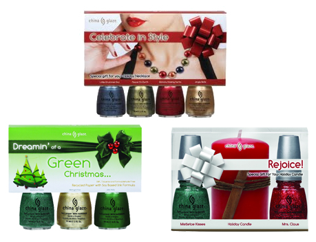 china glaze celebrate style dreaming green christmas rejoice gift set China Glaze Holiday 2010   Blue & Greens Swatches, Review & Comparisons