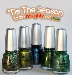 china glaze holiday 2010 green blue bottles China Glaze Holiday 2010   Blue & Greens Swatches, Review & Comparisons