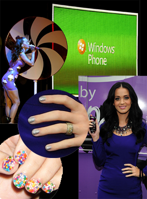 katy perry candy nails silver glittery gray nail art Katy Perrys Latest Nail Art Creations   Candyland and Glitzy Gray