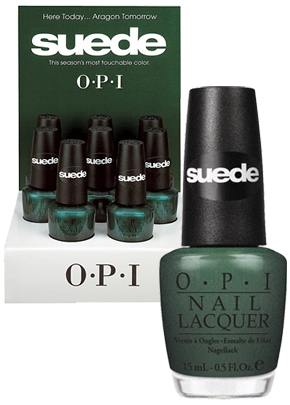 opi here today aragon tomorrow suede display My Go To, Last Minute Holiday Manicure   OPI Here Today... Aragon Tomorrow Suede