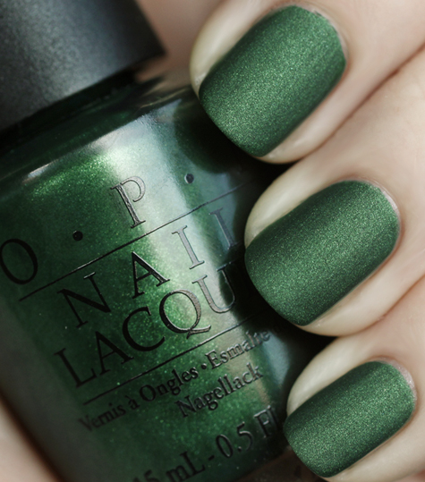 opiheretodaysuedematte My Go To, Last Minute Holiday Manicure   OPI Here Today... Aragon Tomorrow Suede