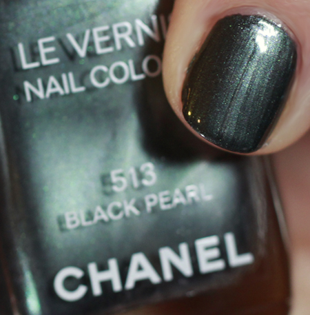 chanel black pearl swatch spring 2011 First Look   Chanel Black Pearl Nail Polish