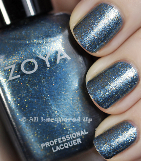 zoya crystal swatch flame holiday 2010 Current Obsession   Zoya Crystal Nail Polish
