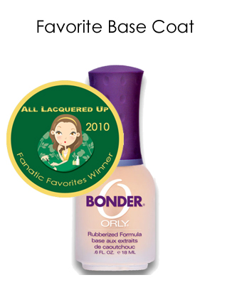 fanatic favorite base coat orly bonder All Lacquered Up Fanatic Favorites 2010   Winners
