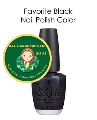fanatic favorite black opi my private jet All Lacquered Up Fanatic Favorites 2010   Winners