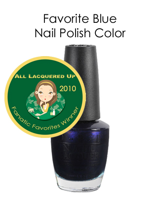 fanatic favorite blue opi russian navy All Lacquered Up Fanatic Favorites 2010   Winners