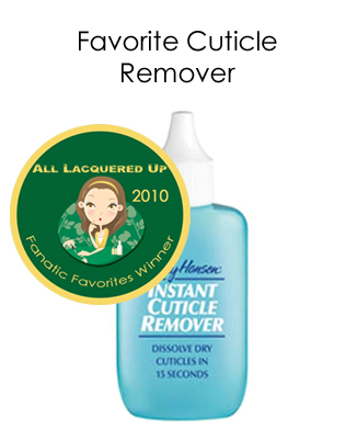 fanatic favorite cuticle remover sally hansen instant All Lacquered Up Fanatic Favorites 2010   Winners