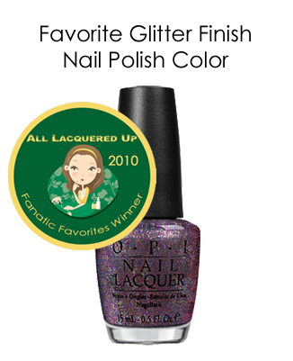fanatic favorite glitter opi mad hatter All Lacquered Up Fanatic Favorites 2010   Winners