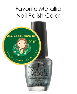 fanatic favorite metallic opi lucerne tainly look marvelous All Lacquered Up Fanatic Favorites 2010   Winners
