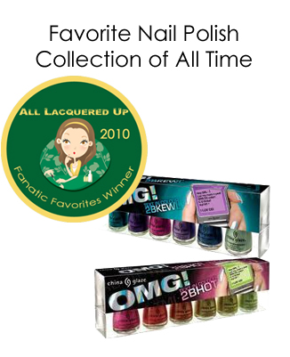 fanatic favorite nail polish collection china glaze omg All Lacquered Up Fanatic Favorites 2010   Winners