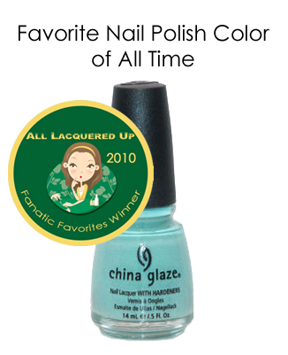 fanatic favorite nail polish color china glaze for audrey All Lacquered Up Fanatic Favorites 2010   Winners