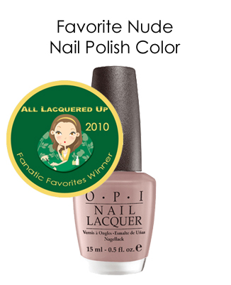 fanatic favorite nude opi tickle my france y All Lacquered Up Fanatic Favorites 2010   Winners