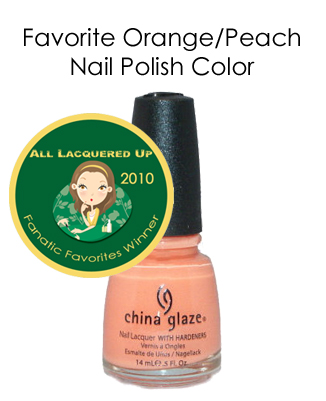 fanatic favorite orange peach china glaze peachy keen All Lacquered Up Fanatic Favorites 2010   Winners