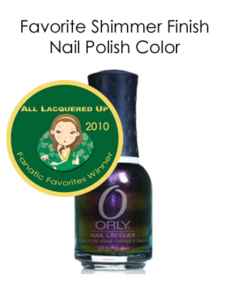 fanatic favorite shimmer orly space cadet All Lacquered Up Fanatic Favorites 2010   Winners