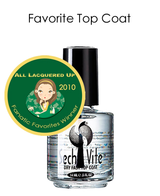 fanatic favorite top coat seche vite All Lacquered Up Fanatic Favorites 2010   Winners