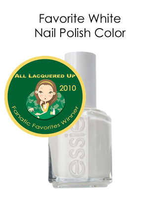 fanatic favorite white essie marshmallow All Lacquered Up Fanatic Favorites 2010   Winners