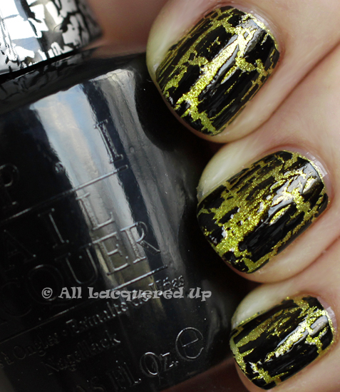 opi black shatter simply smashing swatch glam slam OPI Glam Slam with Serena Williams   Simply Smashing & Black Shatter Swatches & Review