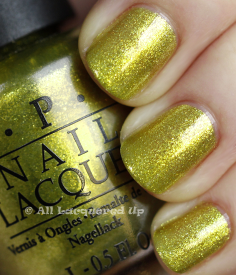 opi simply smashing swatch serena williams glam slam OPI Glam Slam with Serena Williams   Simply Smashing & Black Shatter Swatches & Review