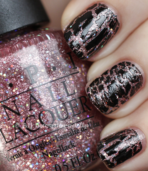 opi teenage dream black shatter swatch katy perry OPI Katy Perry Collection Swatches & Review