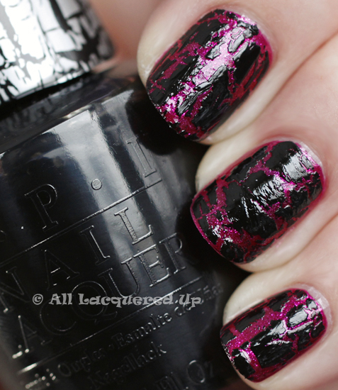 opi the one that got away black shatter swatch katy perry OPI Katy Perry Collection Swatches & Review
