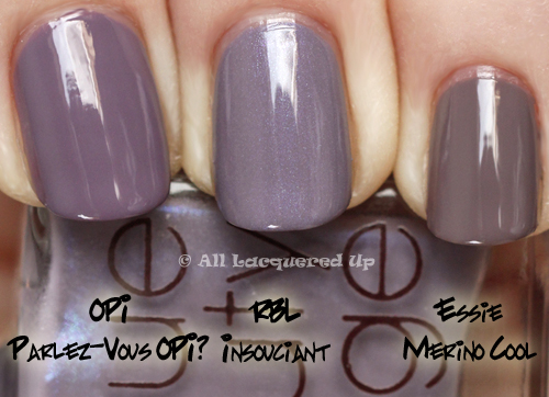Rescue Beauty Lounge Iconic Ironic Spring 2011 Collection Comparison Swatches All Lacquered Up