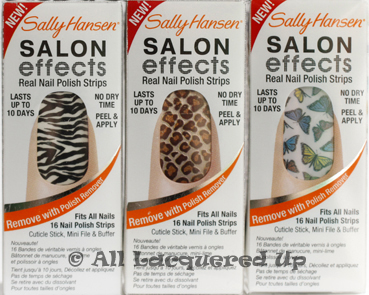 sally hansen salon effects kitty kitty fly with me wild child Sally Hansen Salon Effects Nail Polish Strips Review