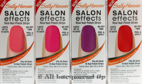 sally hansen salon effects red y for trouble it girl violet night cry baby Sally Hansen Salon Effects Nail Polish Strips Review