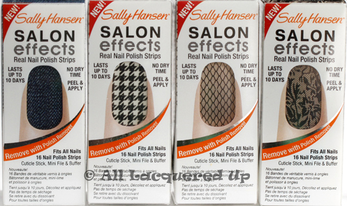 sally hansen salon effects skinny jeans check it out laced up Sally Hansen Salon Effects Nail Polish Strips Review