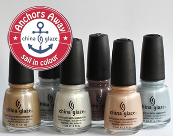 china glaze anchors away spring 2011 nail polish collection China Glaze Anchors Away Spring 2011 Collection   Sand & Sea Swatches & Review