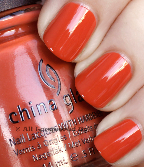 china glaze life preserver swatch anchors away spring 2011 1 China Glaze Anchors Away Spring 2011 Collection   Knotty Nauticals Swatches & Review