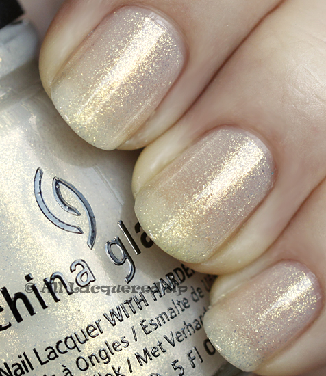 china glaze white cap swatch anchors away spring 2011 China Glaze Anchors Away Spring 2011 Collection   Sand & Sea Swatches & Review