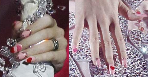 katy perry grammy nail art kimmie kyees Celebrity Manicurist Kimmie Kyees Nails Rihanna & Katy Perry at The Grammys