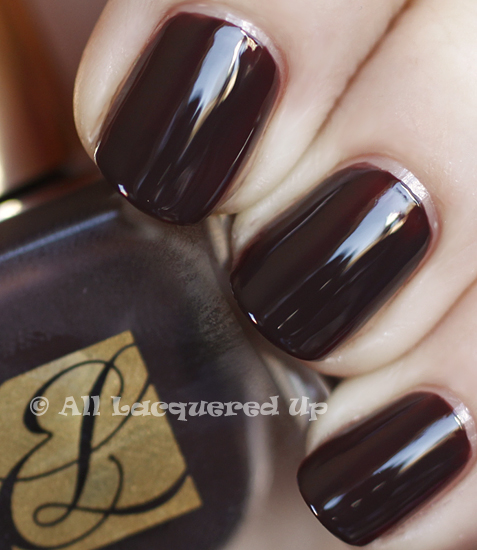 estee lauder chocolate crave swatch pure color nail lacquer spring 2011