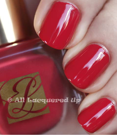 estee lauder hot coral swatch pure color nail lacquer spring 2011