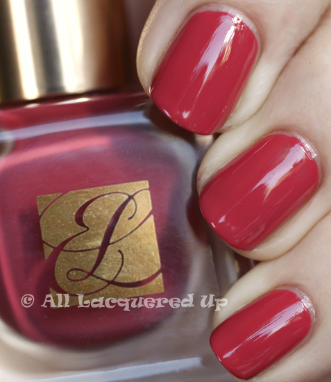 estee lauder rosa rosa swatch pure color nail lacquer spring 2011