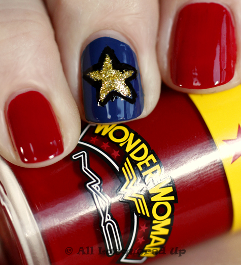 mac obey me swatch wonder woman nail art