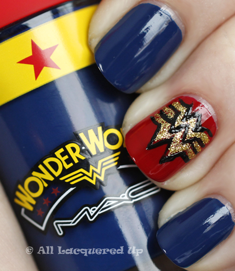 mac spirit of truth nail polish swatch wonder woman nail art