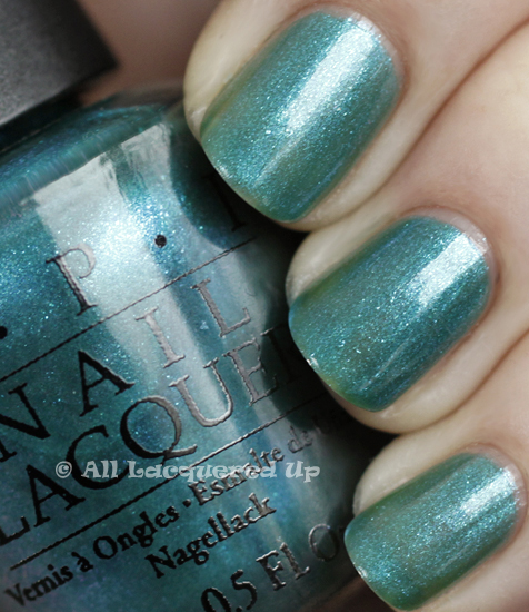 opi austin tatious turquoise swatch texas 2011 OPI Texas Collection for Spring/Summer 2011   Creme & Shimmer Swatches, Review & Comparisons