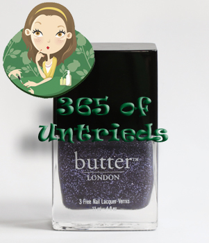butter london no more waity katie nail polish bottle 365 untrieds ALUs 365 of Untrieds   butter LONDON No More Waity, Katie