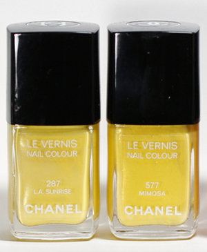 chanel mimosa nail polish le vernis Les Fleurs dEte de Chanel Chanel Mimosa Le Vernis from the Summer 2011 Collection   Swatch, Review and Comparison