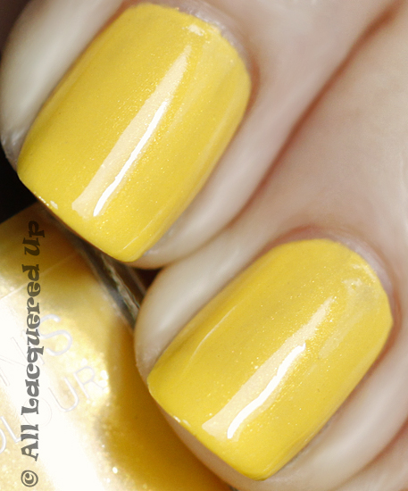 chanel mimosa nail polish swatch close up summer 2011