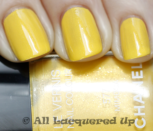 chanel mimosa swatch summer 2011 nail polish