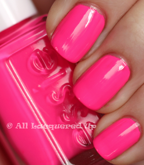 essie pink parka swatch from the essie fall 2009 nail polish collection
