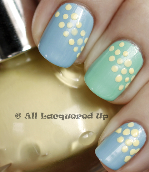 inglot 969 970 nail polish swatch 365 untrieds easter ALUs 365 of Untrieds   Inglot Pastels 969 & 970 for Easter