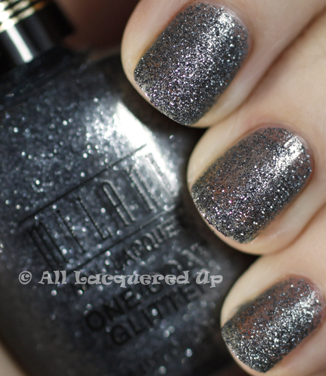 milani silver dazzle one coat glitter swatch nail polish 365 untrieds ALUs 365 of Untrieds   Milani Silver Dazzle One Coat Glitter