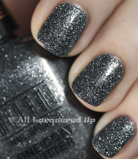 milani silver dazzle swatch one coat glitter nail polish 365 untrieds ALUs 365 of Untrieds   Milani Silver Dazzle One Coat Glitter