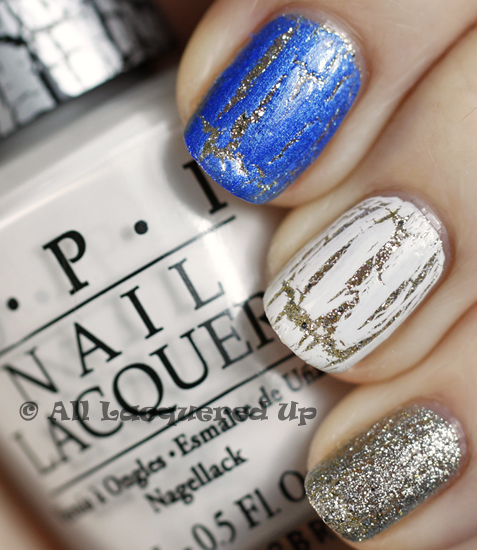 opi spark de triomphe white shatter swatch blue silver shatter glam slam OPI Serena Williams Glam Slam France Swatches & Review
