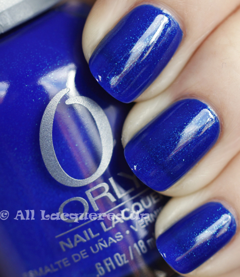 orly royal navy swatch nail polish 365 untrieds ALUs 365 of Untrieds   Orly Royal Navy