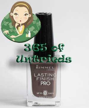 rimmel london steel grey nail polish bottle 365 untrieds ALUs 365 of Untrieds   Rimmel London Steel Gray